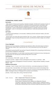financial consultant resume samples visualcv resume samples database