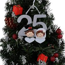 personalized resin diy memorial ornaments 25th silver