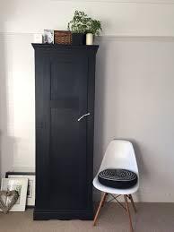 Larder by Black Antique Linen Cupboard Vintage Kitchen Larder Matt Black