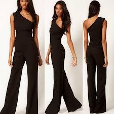 womens black pants jumpsuit trendy style