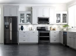 gray kitchen with white cabinets kitchen white cabinets black appliances modern kitchen black