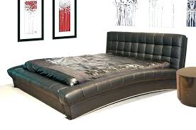 King Size Leather Headboard Leather Headboard King Sleigh Bed With Curved Leather Headboard