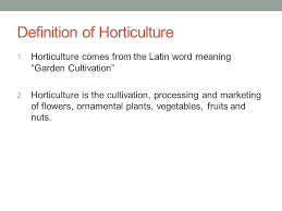 horticulture careers ppt