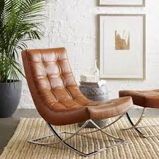 small leather chair with ottoman james nickel leather chair tuscan leather chocolate quick ship