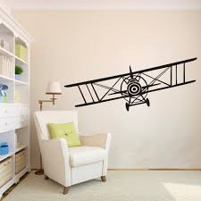 huge bi plane vinyl wall decal sticker vintage airplane bi plane cheap vinyl wall decals buy quality wall art decals directly from china wall decals stickers suppliers huge bi plane vinyl wall decal sticker vintage