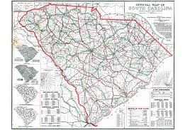 State Map Of South Carolina by Scdot Historical Maps Scdot 100
