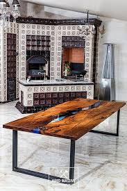 live edge river table epoxy loft wooden table for 8 10 persons for dinig or conference room a