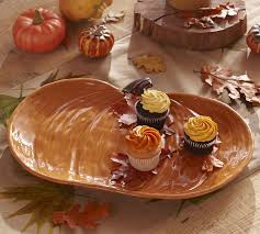 pumpkin serving platter pottery barn