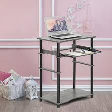 Oak Desk Type Dark Brown Wood Desks Home Office Furniture The Home Depot