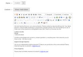 how to configure contact us form and contact email address in