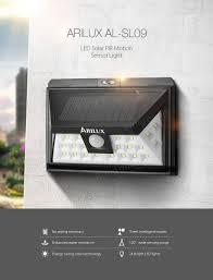 Motion Sensing Light Arilux Al Sl09 Solar Power 24 Led Waterproof Pir Motion Sensor