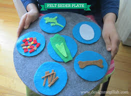 awesome idea to make a felt seder plate for kids love it