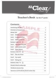 all clear for bulgaria for the 6th grade teacher u0027s book sample