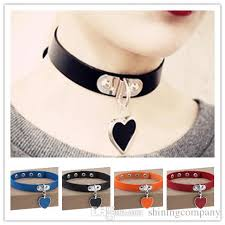 anime choker necklace images 2018 dhl free 16 rock punk vintage sexy collar anime leather alloy jpg