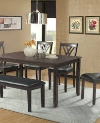 Rustic Dining Room Table With Bench Dining Room Furniture Sam Levitz Furniture
