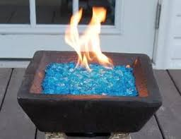 Fire Pit Glass Beads by Close The Loop Garden Glass Mulch