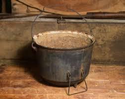 antique pot metal ls rare antique cast iron cauldron ls bacon 1700s 1800s 3