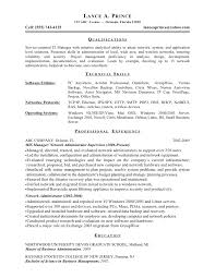 It Manager Sample Resume by Download Citrix Administration Sample Resume