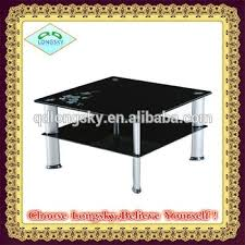 Black Table Ls New Modern Square Center Table Black Glass Coffee Table Ls 1005