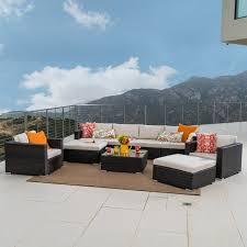 sofa rosa santa rosa outdoor pe wicker 9 sectional sofa with cushions