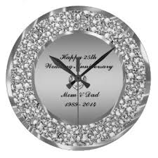 wedding clocks gifts stylish gifts for 25th wedding anniversary b91 on images selection