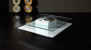 emulsion modern glass coffee table