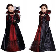 sale wonderful girls queen costume black red lace butterfly