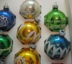 10 vintage tree glass ornaments by noelle usa