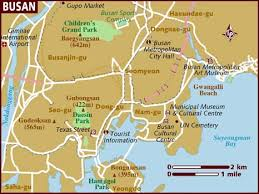pusan on map pusan on map where is pusan location of pusan in south korea map