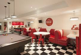 Black And White Checkerboard Ceramic Floor For Modern Fancy Fast - Fast food interior design ideas