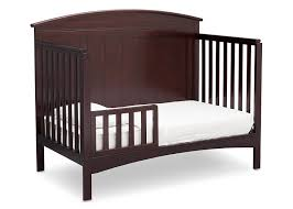 cribs that convert to toddler bed amazon com delta children archer 4 in 1 crib dark chocolate baby