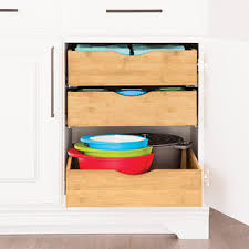 roll out drawers for kitchen cabinets pull out drawers for kitchen cabinets the container store