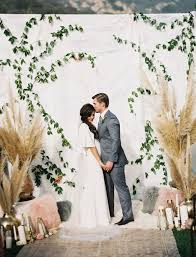 wedding backdrop modern modern marble copper wedding inspiration green wedding shoes