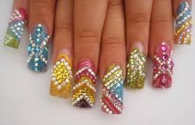 imagenes de uñas acrilicas con pedreria diseños de uñas con piedras