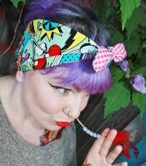 1950s headband vintage 1950s rockabilly pin up style print headband bow acces