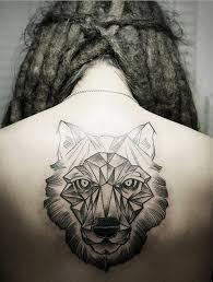 geometric wolf tatoo geometric wolf