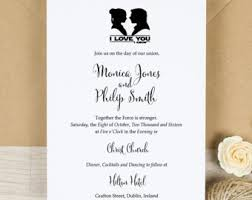 wars wedding invitations wars wedding invitation set digital custom invitations