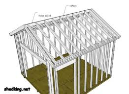 How To Build A Shed Roof House by Shed Roof Building A Shed Roof Roof Framing
