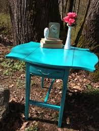 Drop Leaf End Table A Pair Of Milk Paint Nesting Table From The Weathered Door