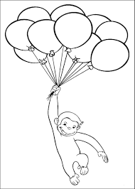 balloons coloring page to color pages breadedcat printable
