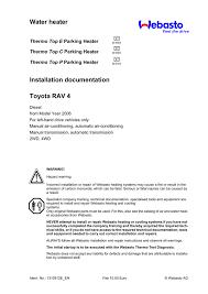 water heater installation documentation toyota rav 4 thermo top e