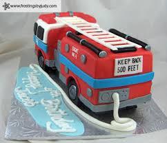 firetruck cake frostings by judy boys 3d firetruck cake