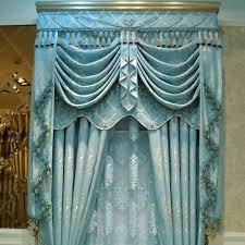 luxury crystal curtain gold quality thickening fashion blue
