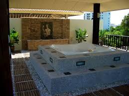 bathroom glamorous outdoor view bathroom jacuzzi bathtub design