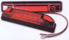 red led marker lights 4 slim line led marker and clearance light led trailer lights