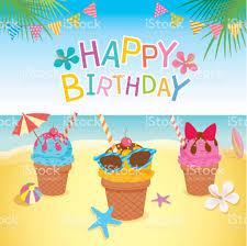 summer birthday card stock vector 673342750 istock