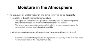 moisture in the atmosphere chapter layers of the atmosphere ppt