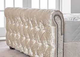 Velvet Sleigh Bed Sleigh Bed