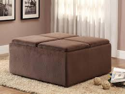 coffee table coffee table and ottoman combo large leather storage