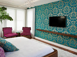 Bedroom With Accent Wall by Contemporary Blue Accent Guest Bedroom Come With Teal Accent Wall
